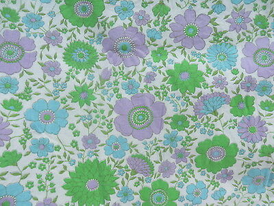SOPHIE   SHEET    Double   COTTON        RETRO VINTAGE FABRIC