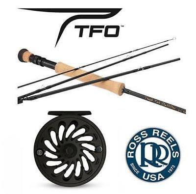 Temple Fork Pro Series Ii 4-Piece Fly Rod And Ross Rapid Reel Outfit For 7 Or 8