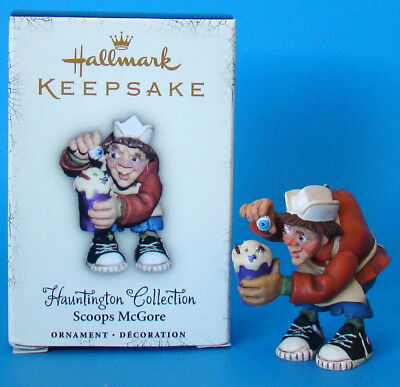 Hallmark Halloween Hauntington Collection Scoops McGore Ornament - New in Box