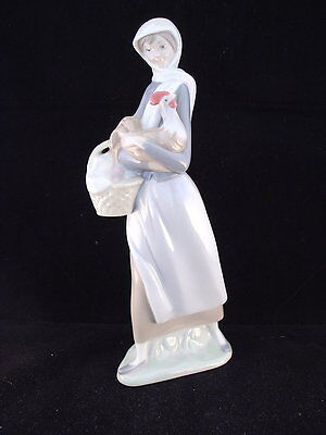 Lladro Figurine - Girl With Cockerel Ref. 4591