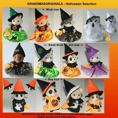 NEW clothes for Sylvanian Families - HALLOWEEN OUTFITS - SEE SELECTION