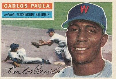 Topps 1956 #4 Carlos Paula-Washington Nationals