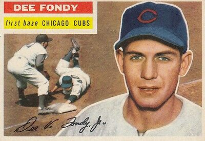Topps 1956 #112 Dee Fondy-Chicago Cubs