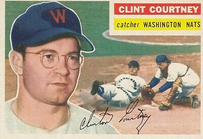 Topps 1956 #159 Clint Courtney-Washington Nationals