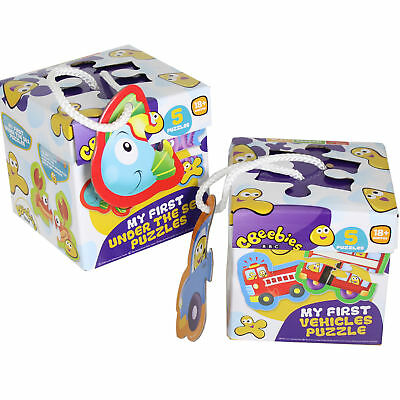 """CBeebies """"Vehicles/Under Sea"""" Set of 2 Puzzles - Age 18 Months+"""
