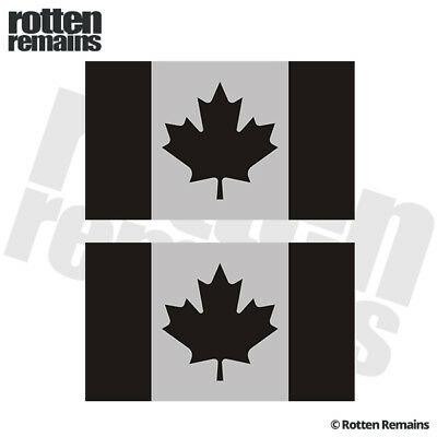"""Canada Subdued Flag REFLECTIVE Decal SET 3""""x1.8"""" Canadian Military Sticker L44"""