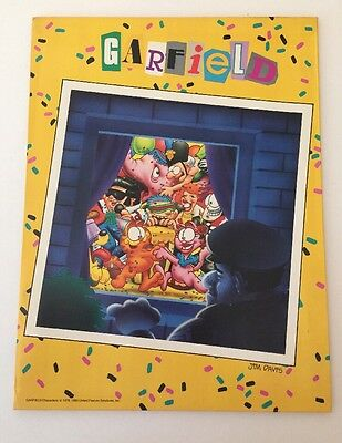 Vintage 1988 Garfield Mead 10 Year Party Folder 33288
