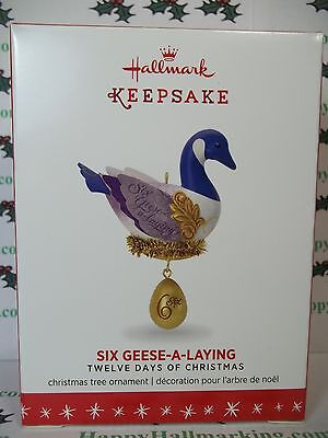 Hallmark Twelve Days of Christmas 2016 Six Geese A Laying 6th Ornament
