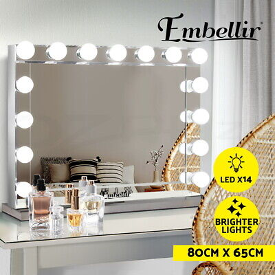 Hollywood Frameless Makeup Mirror With Light Vanity Mirror Christmas Gift