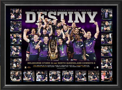 Melbourne Storm 2017 NRL Premiers Deluxe Sports Lithograph UNFRAMED