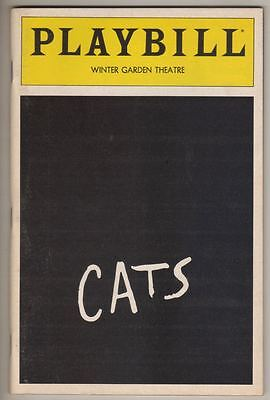 "Betty Buckley  ""Cats""   Playbill 1983  Broadway  Terrence Mann,  Ken Page"