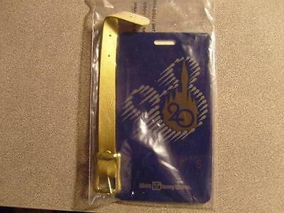 Walt Disney World Club Premium 20 Years Anniversary Luggage Tag Blue