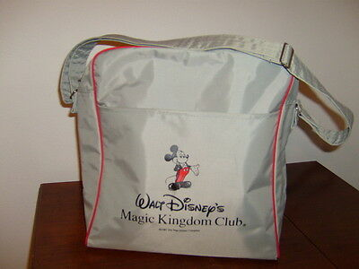 Disney Magic Kingdom Club Airline Carry On Mickey Mouse Shoulder Bag Vinyl 1987