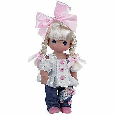 Precious Moments Dolls by The Doll Maker, Linda Rick, Cute as a Button, 12 inch