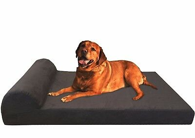 Orthopedic Waterproof Memory Foam Pet Bed Large to Extra Large XL Dogs Head Rest