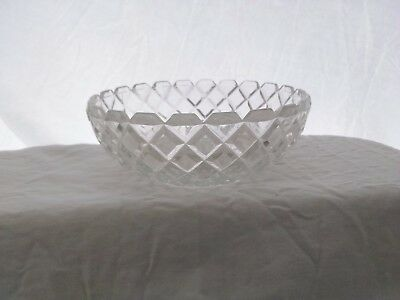 Vintage, Hocking Glass, Waterford or Waffle Pattern, Salad Bowl, clear