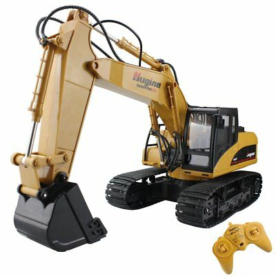 Fistone RC Excavator 15CH 2.4G Crawler Truck Wireless Digger Games Toy Remote