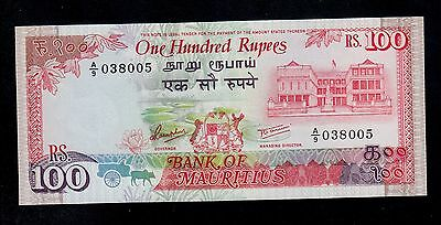 Mauritius  100 Rupees ( 1986 )  A/9 Pick # 38  Unc.