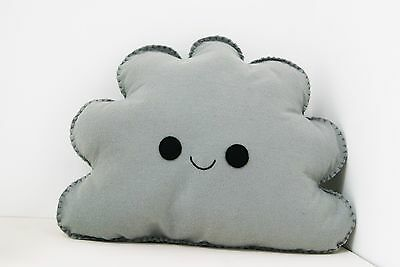 Grey Happy Cloud Shaped Cushion Plush Pillow Kids Room Baby Nursery Decor Gift