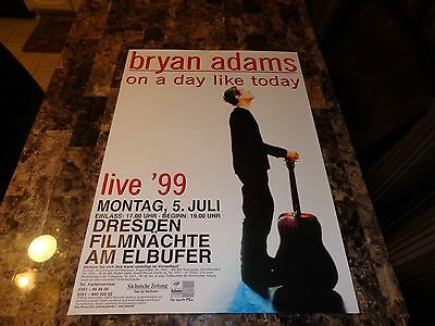 Bryan Adams Rare On A Day Like Today Tour 1999 Germany Concert Show Gig Poster