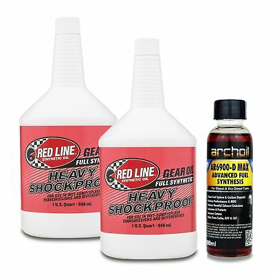 2 x Red Line Heavy Shockproof Transmission & Diff Gear Oil  75W250 / 75W90