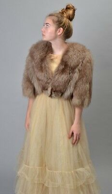 Ladies' Mid 20th Century Magnificent Debenham & Freebody Fox Fur Short Coat. BLO