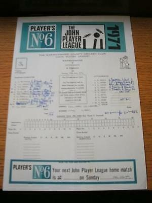 11/07/1971 Cricket Scorecard: Warwickshire v Nottinghamshire [At Warwickshire] (