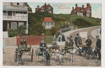 Early Postcard,Suffolk, Felixstowe, Children With Goat Carts, F @ WUDC  Stand