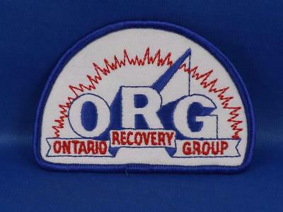 Ontario Recovery Group Org Towing Association Hat Vest Patch Vintage Collector