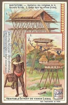 Pole Houses South Pacific New Gunea 1904 Trade Ad Card