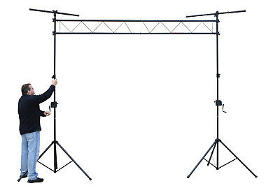3m Wind Up Truss System Lighting Stand Rig Gantry Bridge Tripod Disco DJ Band