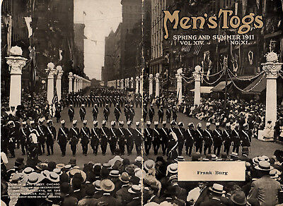 Men's Fashions 1911 Illustrated Ad Booklet Parade on State Street Chicago Cover
