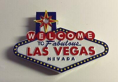 Welcome To Fabulous Las Vegas Sign Rhinestone Magnet 3 Inch Casino Hotels