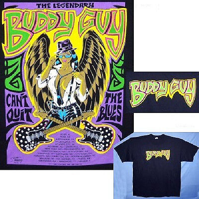 Buddy Guy Grafitti Design Can't Quit The Blues Tour Black T-Shirt M New Official