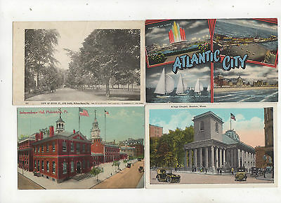 Lot of 48 Vintage Topographical Postcards USA