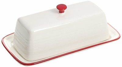 """Gibson 6"""" Hollydale Butter Serkveware Dish with Lid - Red"""