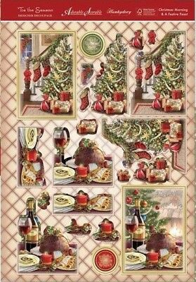 Hunkydory Christmas Morning & Festive Feast Foiled & Die Cut Decoupage Toppers