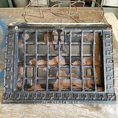 Vintage GEM cast iron Heat Grate Register Vent Architectural Salvaged rusty!