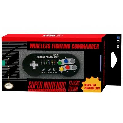 HORI Wireless Mini SNES Fighting Commander Classic Controller Mini SNES/NES/W...