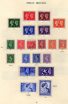 Selling Great Britain stamp collectionPage By Page 57 SG 479 to SG 494 SOME MINT