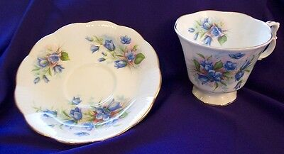 Royal Albert Blue Floral Tea Cup And Saucer
