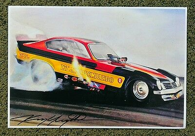 New Kenny Youngblood Signed Lil John Lombardo '74 Funny Car Print