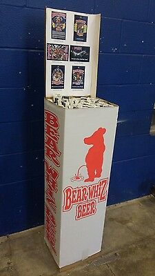 Bear whiz beer posters Complete display! NOS! 72 posters