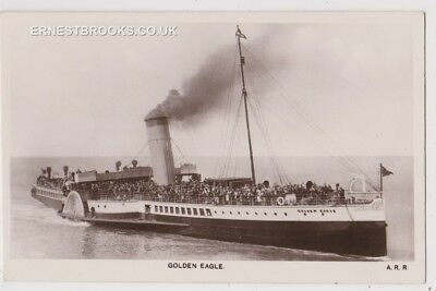 Early Postcard, Ships, Golden Eagle, Paddle Steamer, People On Board, RP