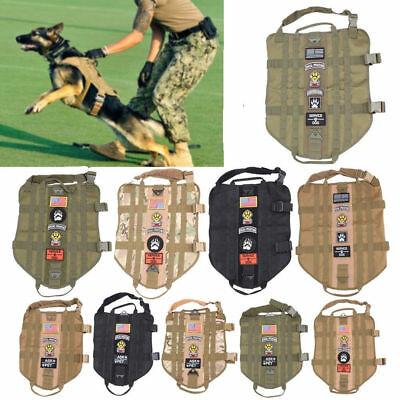 Military MOLLE Dog Harness Police K9 Tactical German Shepherd Vest XS-XL