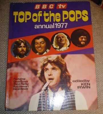 RARE- TOP OF THE POPS ANNUAL 1977 - BOWIE/ROD/SLADE/ELO/DONNY/SWEET/MUD/LEO/10cc