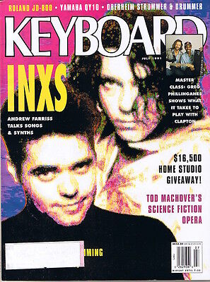 1991 INXS Farriss, ROLAND JD-800, YAMAHA QY10 KORG WAVESTATION Keyboard Magazine
