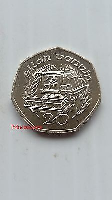 Rare-1989*unc*isle Of Man Combine Harvester 20 Pence Coin-Km#211