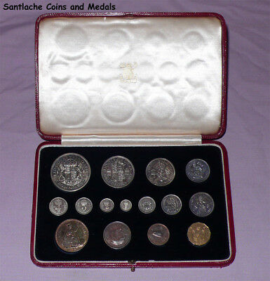 1937 Royal Mint King George Vi Coronation Proof Set Coins In Case