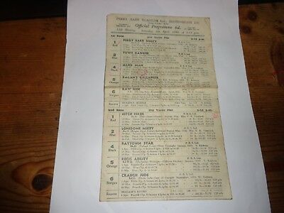 GREYHOUND RACING CARD 4 pages  PERRY BARR BIRMINGHAM 8th April 1944